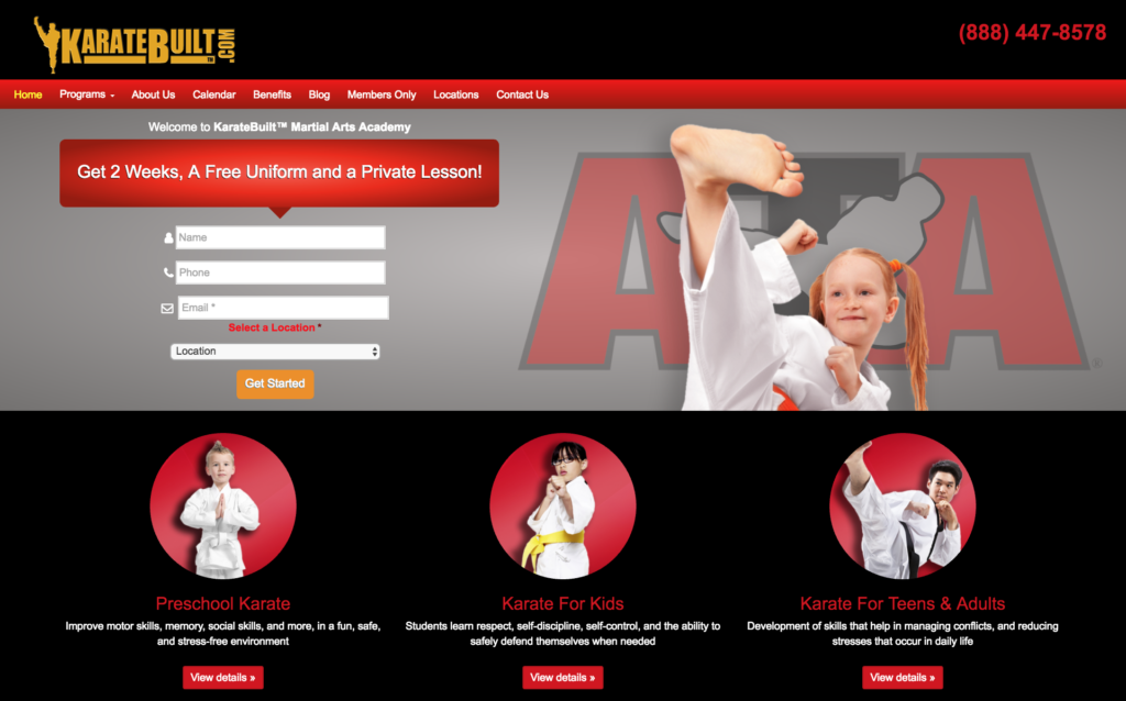 Go2KarateSITES, Martial Arts Websites, Martial Arts Marketing, Martial Arts SEO, Core-10 au163 Best Martial Arts Website Design