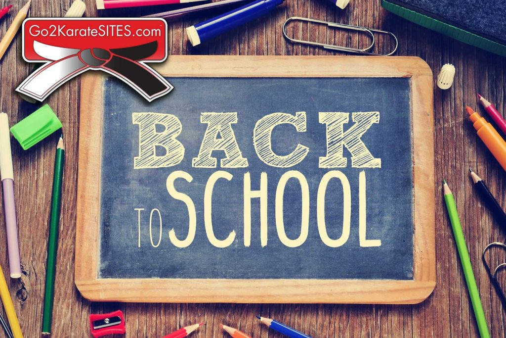 Go2KarateSites Back To School